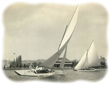 Early photo of Thames A Raters racing